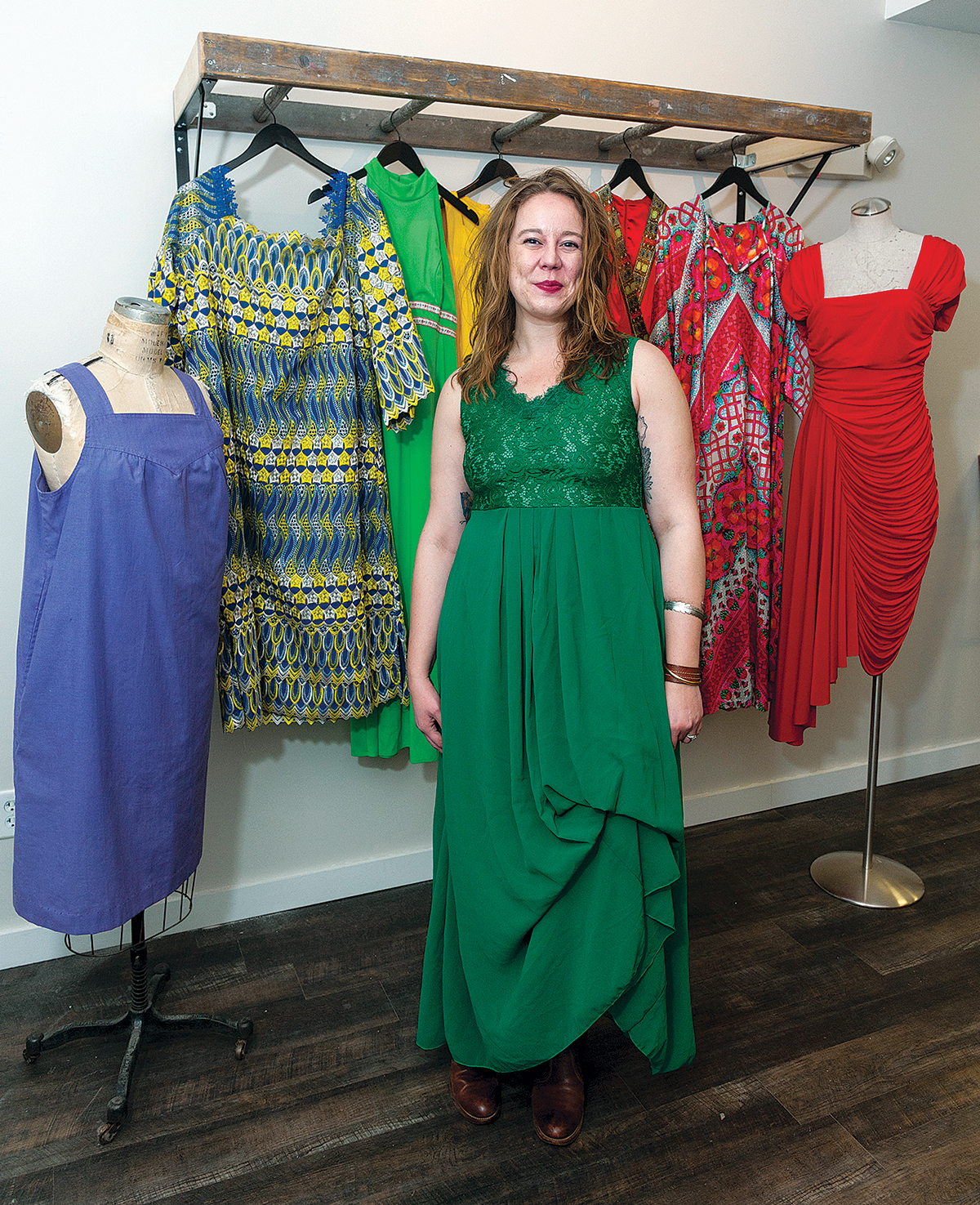 excited ownER: Initially selling items at pop-up sales and flea markets, Sonia Gilewicz is excited to finally open her own vintage clothing shop in Providence. / PBN PHOTO/MICHAEL SALERNO