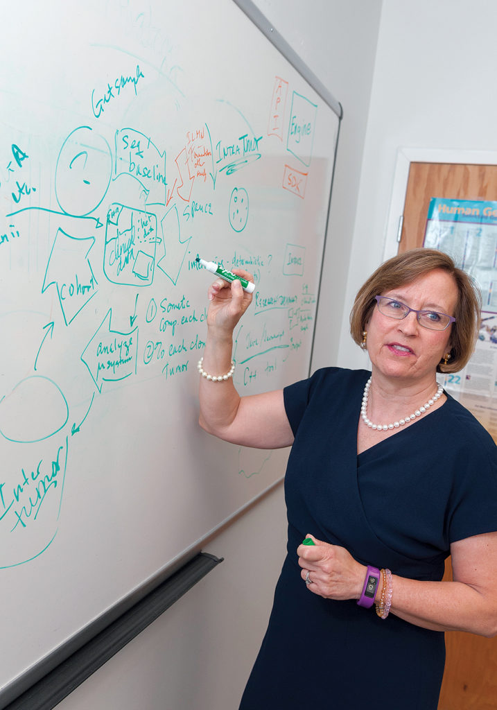 GROWING THE INDUSTRY: ­Patrice M. Milos is president of Providence-based Medley Genomics, a precision health care company focusing on genomic mutations present in cancer cells. / PBN PHOTO/MICHAEL SALERNO