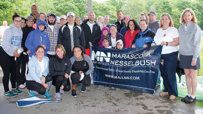 LIVING VALUES: Marasco & Nesselbush staff demonstrated their commitment to firm values by taking part in the 2016 charity walk for the Brain Injury Association of Rhode Island. / COURTESY MARASCO & NESSELBUSH