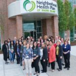 ENGAGED IN SERVICE: Neighborhood Health Plan of Rhode Island employees at the new offices in Smithfield are supported and valued by management through a variety of programs. / COURTESY NEIGHBORHOOD HEALTH PLAN OF RHODE ISLAND
