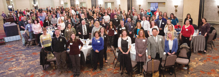 CELEBRATE! Pawtucket Credit Union recognizes its staff with a yearly employee appreciation/recognition event, at which the employee of the year is named. This year 220 attended. / COURTESY PAWTUCKET CREDIT UNION