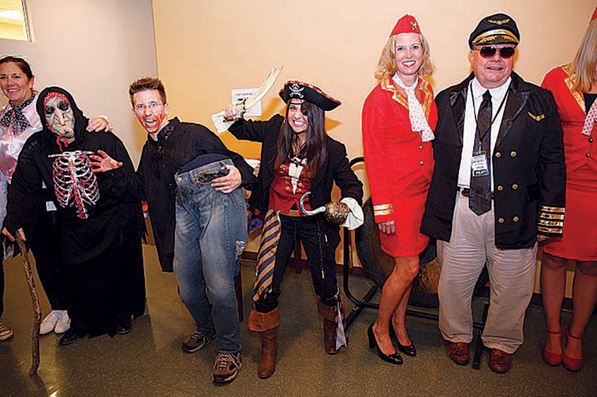THINKING DIFFERENTLY: It should come as no surprise that at Ximedica, a company that helps develop innovative processes and products, the staff enjoys a good Halloween party. / COURTESY XIMEDICA