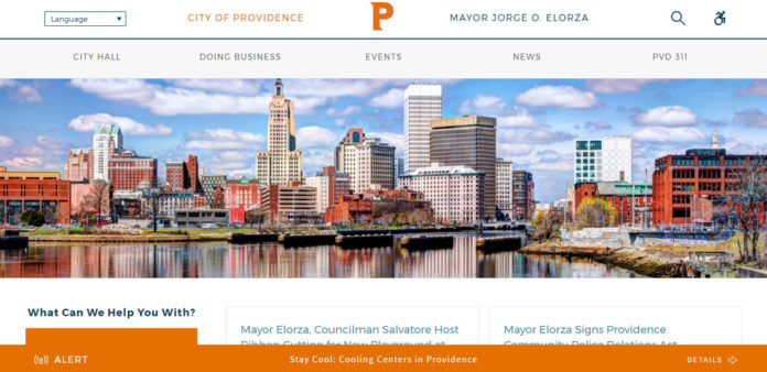 PROVIDENCE MAYOR Jorge O. Elorza announced the launch of the city's new website, shown above, on June 8. The new design features a mobile-responsive design and improved accessibility for residents, business owners and visitors.