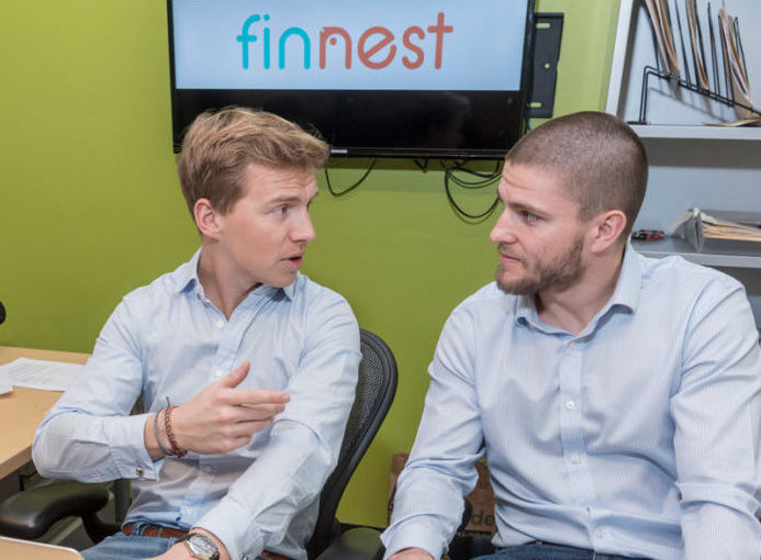 FINNEST IS ONE of three Rhode Island companies to be introduced at the MassChallenge Startup Showcase on June 28. Above, Finnest co-founders Clemens Grave, left, and Richard McDonald. /PBN FILE PHOTO/MICHAEL SALERNO