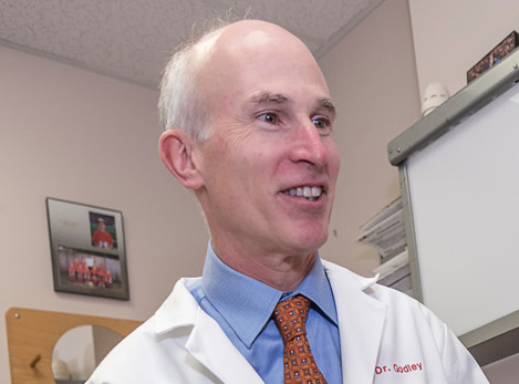 DR. FREDERICK GODLEY is the president of the Association of Migraine Disorders, which sponsored a free public forum at the Squantum Association in East Providence on June 23 called