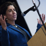 GOV. GINA M. RAIMONDO announced that Rhode Island had joined the United States Climate Alliance, a group of states committed to upholding the Paris Climate Accord standards despite President Donald Trump's rejection of the agreement.