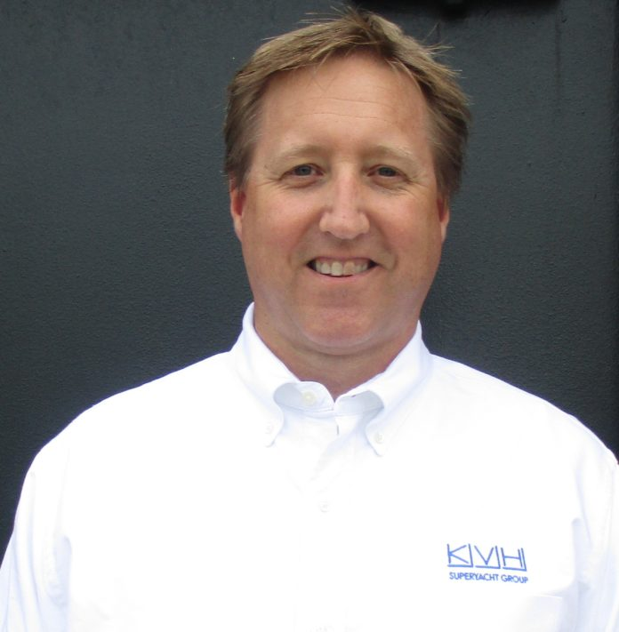 THE KVH SUPERYACHT GROUP, comprised of five marine electronics professionals, including new hire Darryl Matfin, above, will provide customized services for the global luxury yacht market. /COURTESY KVH INDUSTRIES INC.