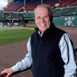 DESPITE HIS DECADES as a major league baseball executive, Pawtucket Red Sox Chairman Larry Lucchino may be facing his most challenging job yet: convincing the voters of Rhode Island to help the PawSox build a new stadium. / PBN FILE PHOTO/MICHAEL SALERNO