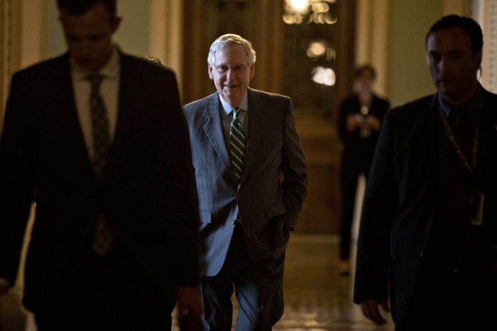 SENATE MAJORITY LEADER, Mitch McConnell / BLOOMBERG FILE PHOTO/ANDREW HARRER