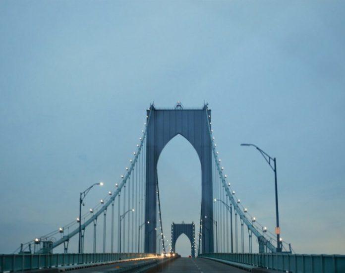 PERMANENT SINGLE LANE CLOSURES will cease on the Newport Pell Bridge until September. /PBN FILE PHOTO/NICOLE DOTZENROD