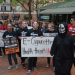 HIGH SCHOOL STUDENTS participate in the Zombie Walk in Providence's Burnside Park before proceeding to the Rhode Island Statehouse, where an awards ceremony was held. /COURTESY R.I. DEPARTMENT OF HEALTH