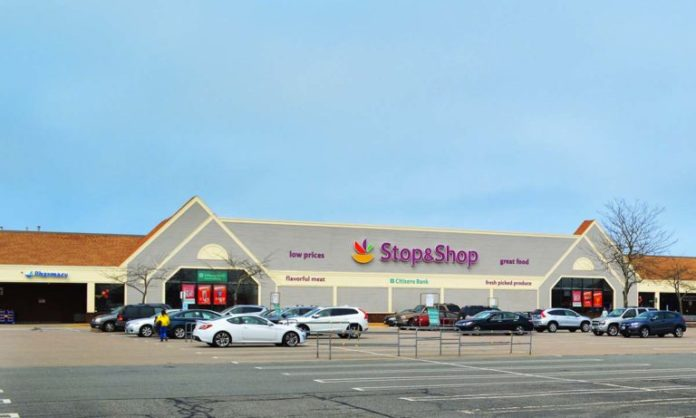 RK CENTERS of Needham, Mass., recently purchased the former Brown's Lane shopping center in Middletown for $10.58 million. Located on Route 114, the shopping center includes a Stop & Shop supermarket anchor, pictured, along with GNC and Sprint. /COURTESY RK CENTERS