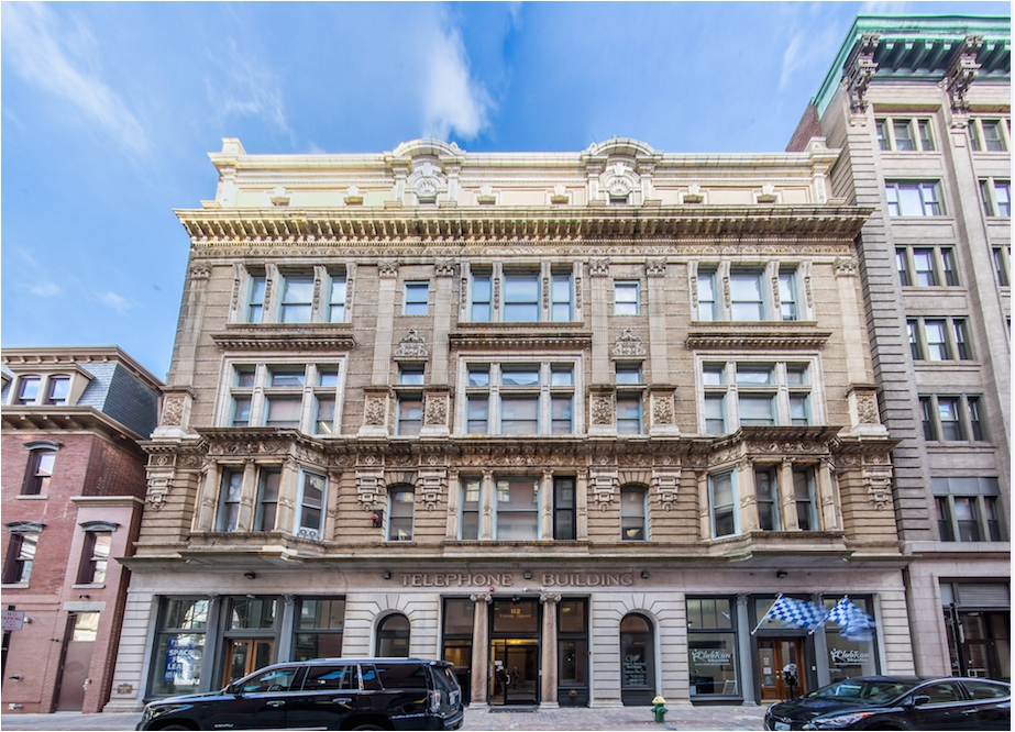 THE TELEPHONE BUILDING, at 112 Union St., is among the converted apartment buildings new to the downtown tour this year. /COURTESY THE PROVIDENCE FOUNDATION