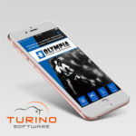 THE OLYMPIA FITNESS APP, displayed above, is among the first apps designed and launched by Turino Software as part of their newly announced mobile app development service for small businesses. /COURTESY TURINO SOFTWARE