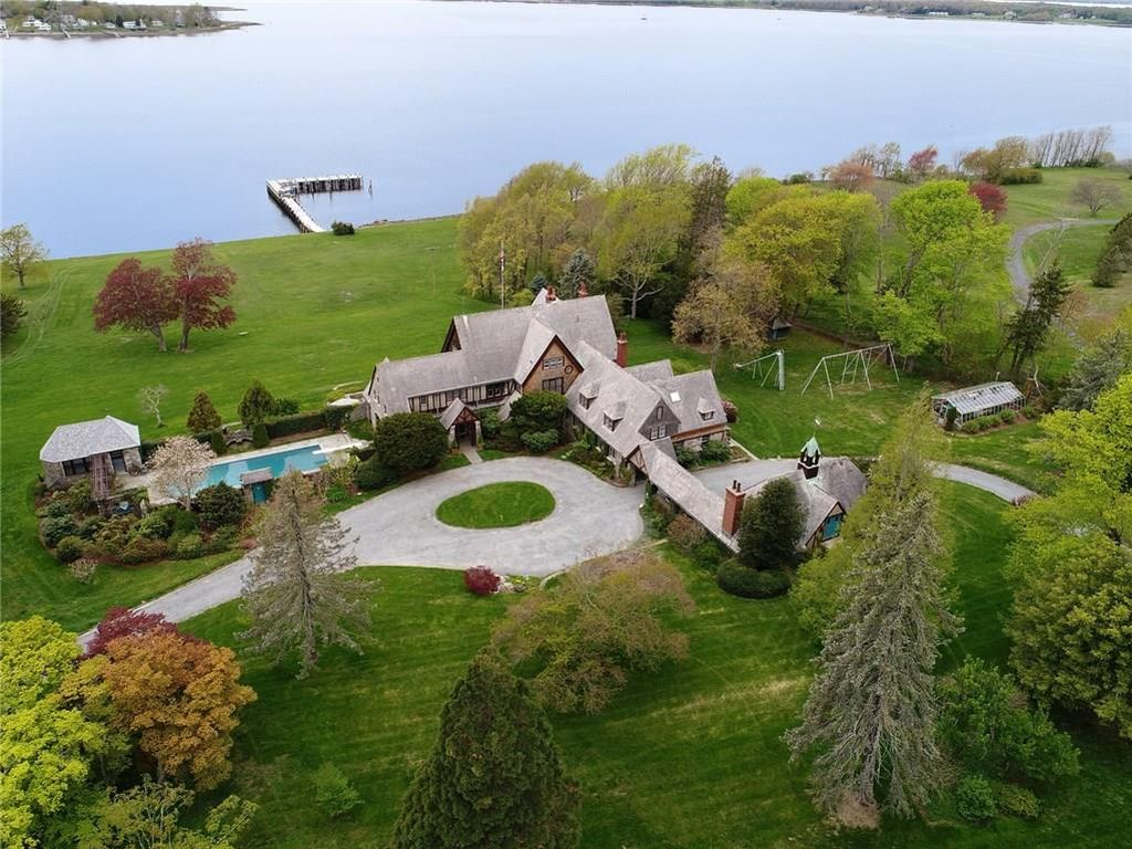 FOR THE FIRST TIME in nearly 100 years, this waterfront manor house and estate at 55 Ferry Road in Bristol, known as the Wind Hill estate, is listed for sale at $6.99 million. /COURTESY LILA DELMAN REAL ESTATE INTERNATIONAL