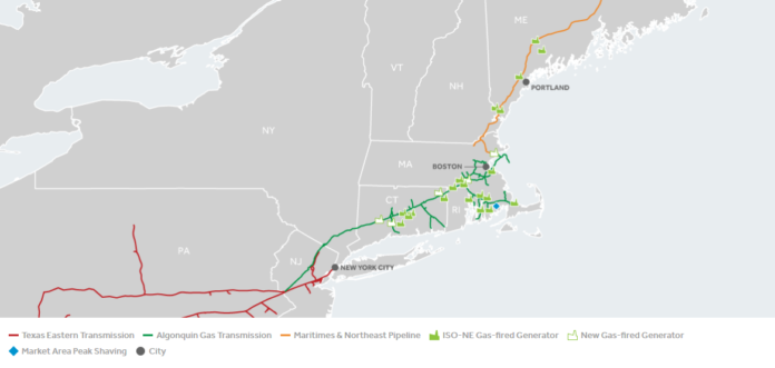 PLANS FOR THE COMPRESSOR station in Rehoboth have been put on hold. / COURTESY ENBRIDGE INC.