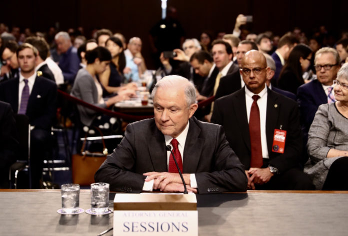ATTORNEY GENERAL JEFF SESSIONS testified before the Senate Intelligence Committee on Tuesday denying collusion with Russian officials, and denying allegations that he gave misleading testimony about his contact with Russian officials. /BLOOMBERG FILE PHOTO/ANDREW HARRER