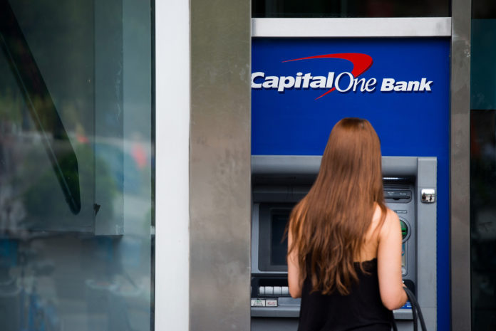 CAPITAL ONE FINANCIAL CORP. was the only one of the 34 major U.S. banks that underwent the annual Federal Reserve stress test that is being required to file a follow-up plan with the central bank. / BLOOMBERG NEWS FILE PHOTO/CRAIG WARGA