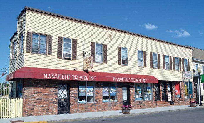 185-195 N. Main St. (1900)PROPERTY OWNER: Paula Araujo Trust; 187 North Main Street Realty (Mary I. Frisoli Limited Trust)TENANTS: Mansfield Travel Inc.; Angie's Alterations