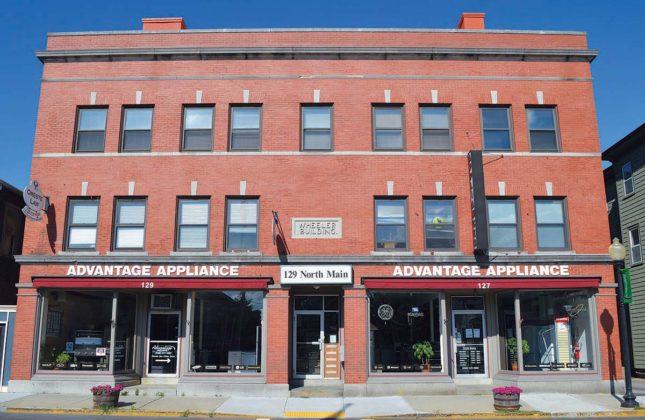 Wheeler Building, 127-129 N. Main St. (1904)PROPERTY OWNER: Grove Building Realty Trust (James P. Lazzara, trustee)TENANT: Advantage Appliance