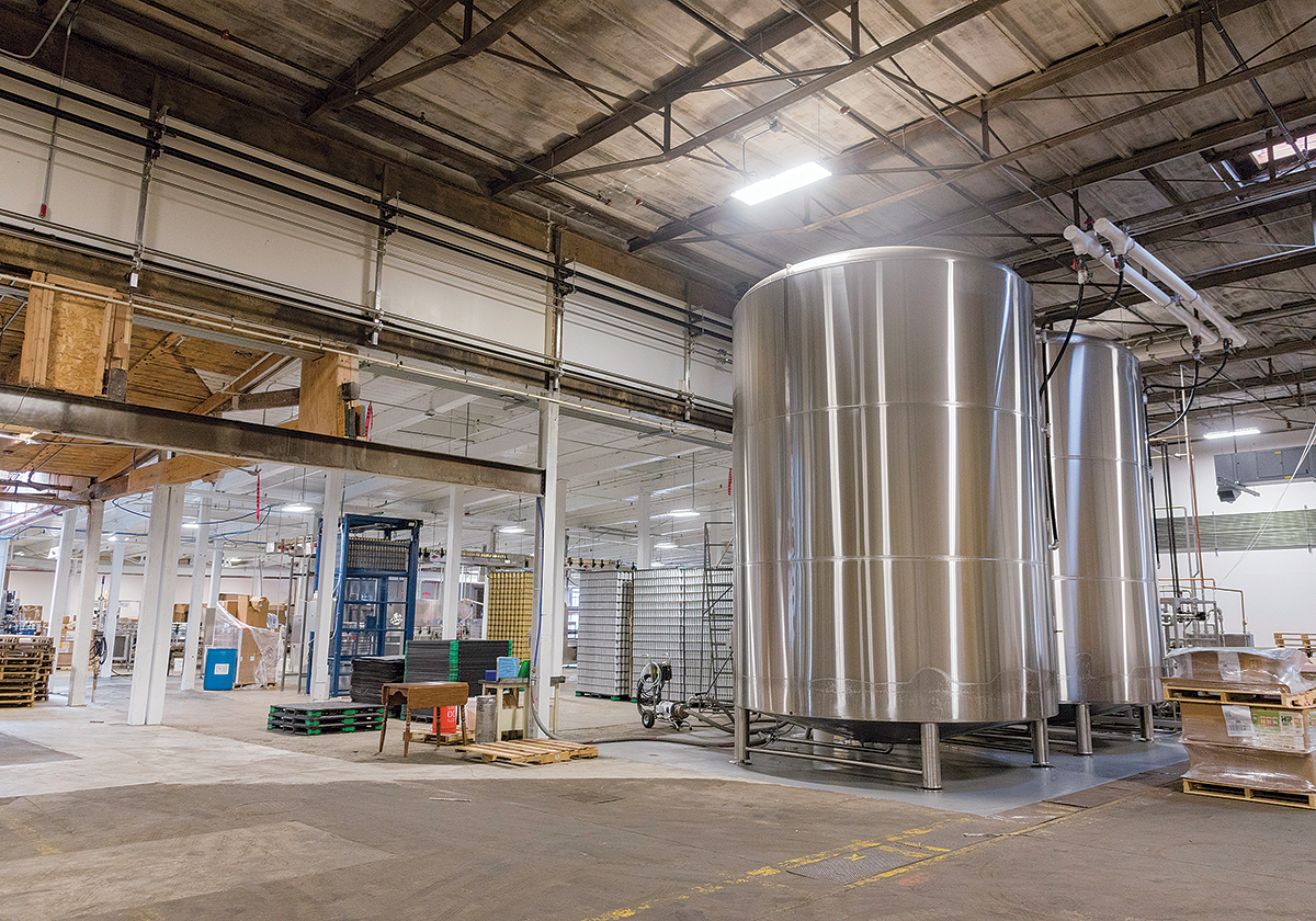 CUSTOM DESIGN: The complex is equipped with state-of-the-art, craft-brewing equipment, including a custom-designed, four-vessel automated brewing system by JVNW. / PBN PHOTO/MICHAEL SALERNO