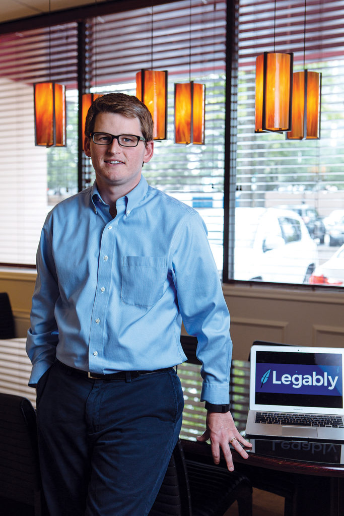 A BETTER WAY: Attorney Daniel Reilly launched Legably, a web-based platform allowing lawyers to connect with one another for hiring purposes, after having a difficult time connecting a client with an out-of-state lawyer. / PBN PHOTO/RUPERT WHITELEY