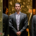 DONALD TRUMP JR., son of U.S. President Donald Trump, stands in an elevator at Trump Tower in New York. / BLOOMBERG FILE PHOTO/ALBIN LOHR-JONES