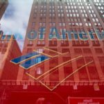 BANK OF AMERICA CORP. posted a second quarter decline in interest income despite speculation that the bank would heavily profit from rising federal interest rates. / BLOOMBERG FILE PHOTO/RON ANTONELLI