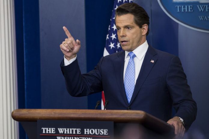 ANTHONY SCARAMUCCI WAS REMOVED from office less than two weeks after being appointed director of communications for the White House. / BLOOMBERG FILE PHOTO/ZACH GIBSON