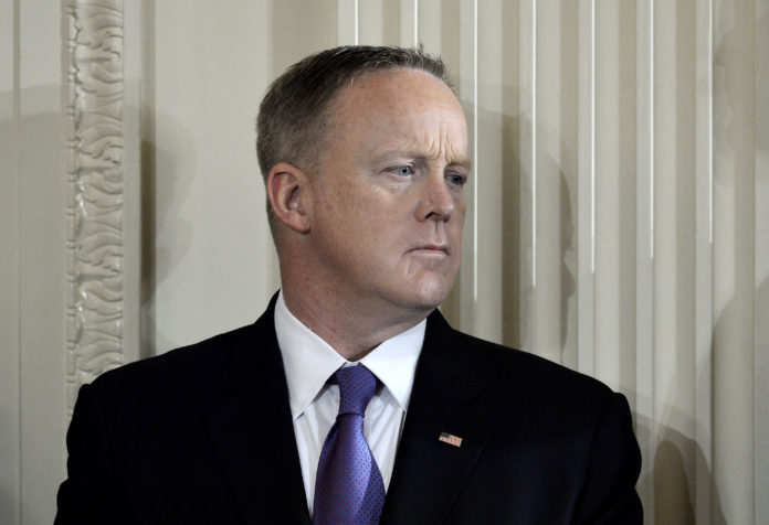 SEAN SPICER HAS RESIGNED his position as White House press secretary. BLOOMBERG FILE PHOTO/OLIVIER DOULIERY