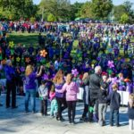 PARTICIPANTS IN THE 2016 Alzheimer's charity walk create a large crowd in Providence's Roger Williams Park. / COURTESY ALZHEIMER'S ASSOCIATION RHODE ISLAND CHAPTER