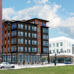 A RENDERING OF the revised design of Chestnut Commons, a new residential and commercial building planned for the Interstate 195 Redevelopment District. The updated design was approved by the Interstate 195 Redevelopment District Commission, as a result of efforts to reduce costs. /COURTESY INTERSTATE 195 REDEVELOPMENT DISTRICT COMMISSION