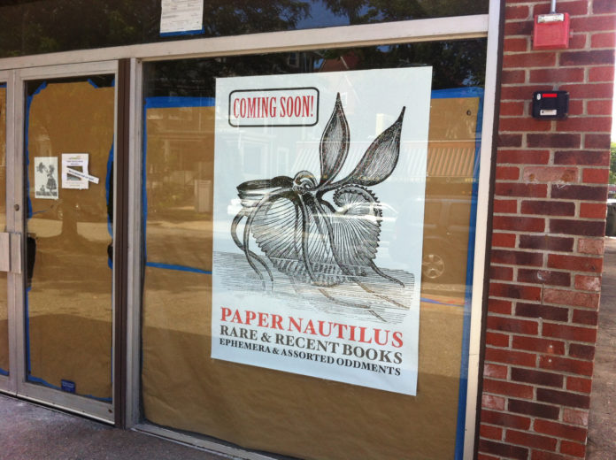 PAPER NAUTILUS BOOKS is relocating to a new storefront in Wayland Square at 19 S. Angell St., just a few doors down from its previous location. /PBN PHOTO/MARY MACDONALD