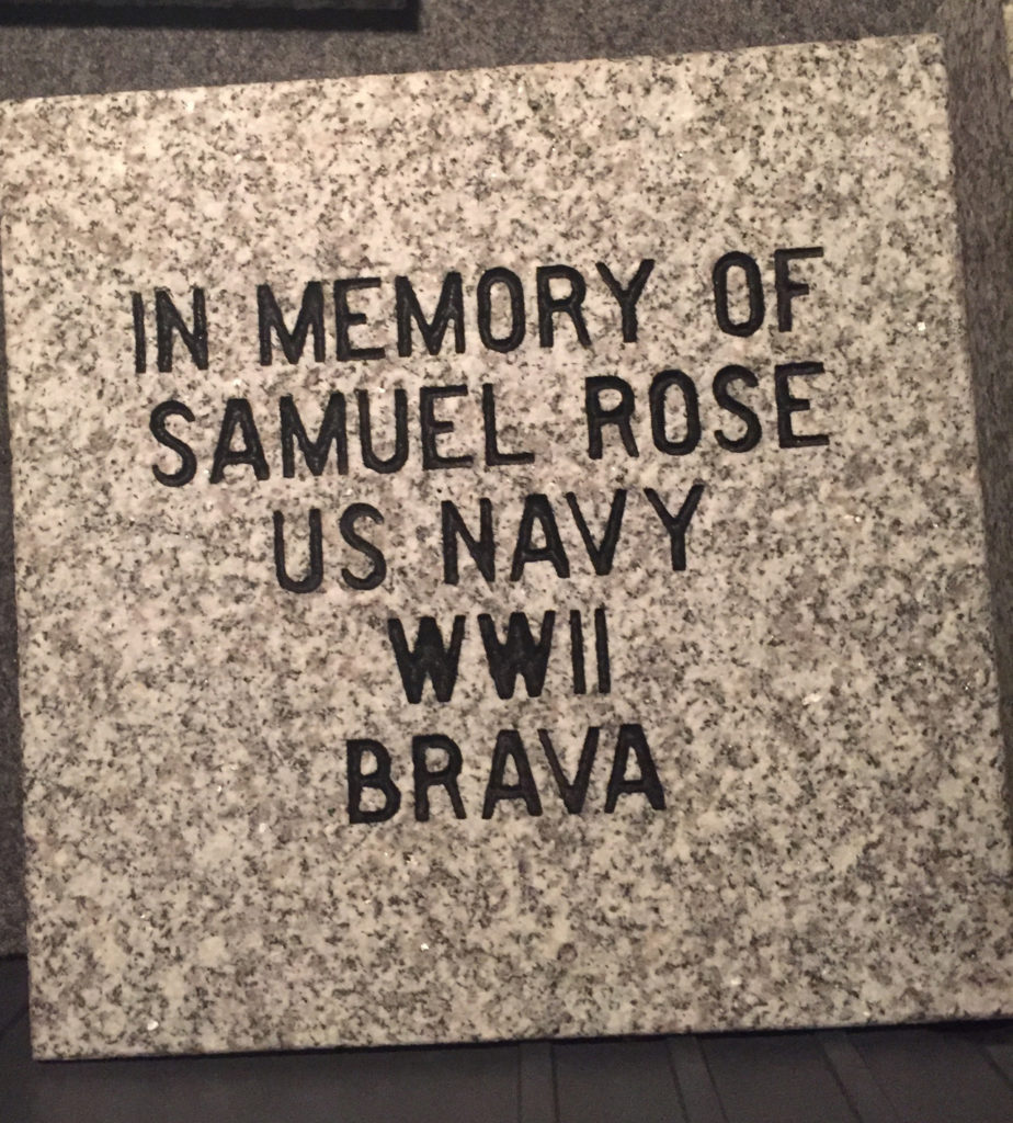 A PAVER SAMPLE of the Cape Verdean Veterans Memorial, located in the Rhode Island Veterans Memorial Cemetery, honoring veterans of Cape Verdean decent who fought on behalf of the United States dating back to the Civil War, which was dedicated in May. /COURTESY CAPE VERDEAN VETERANS MEMORIAL PROJECT
