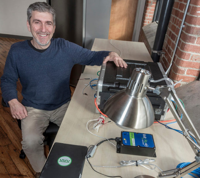 STEPHEN EAVES, founder and CEO of VoltServer Inc. located in East Greenwich. VoltServer Inc. provides digitized electricity which allows touch-safe power distribution to electric devices. PBN FILE PHOTO/ MICHAEL SALERNO