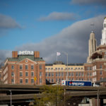 HARTFORD HIRED A restructuring firm as fiscal strains on the city build. Above, Aetna Inc. headquarters stands in Hartford, Conn. Aetna recently announced it will move its headquarters from Hartford to New York City. / BLOOMBERG FILE PHOTO/MICHAEL NAGLE