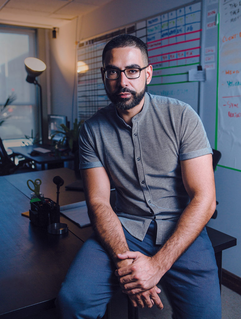 """In 2012 Carlos Andres Toro founded Steer Digital, a Providence-based digital media team working locally and around the globe. The firm premiered """"Shark Vortex"""" on Discovery Channel during Shark Week 2017. / PBN PHOTO/RUPERT WHITELEY"""
