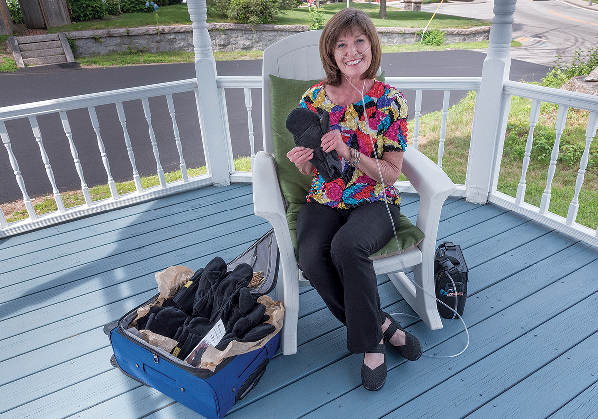 SOFT SELL: Marita Loffredo, founder of Phalang-Ease Mittens LLC, came up with the idea for the gloves due to her own challenges with rheumatoid arthritis. / PBN PHOTO/­MICHAEL SALERNO