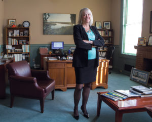 RHODY VOICE: Janet L. Coit, director of the R.I. Department of Environmental Management, represents Rhode Island's interests with RGGI Inc., a nonprofit created to administer and oversee the Regional Greenhouse Gas Initiative, a market-based, cap-and-trade accord designed to reduce carbon-dioxide emissions. / PBN FILE PHOTO/RUPERT WHITELEY