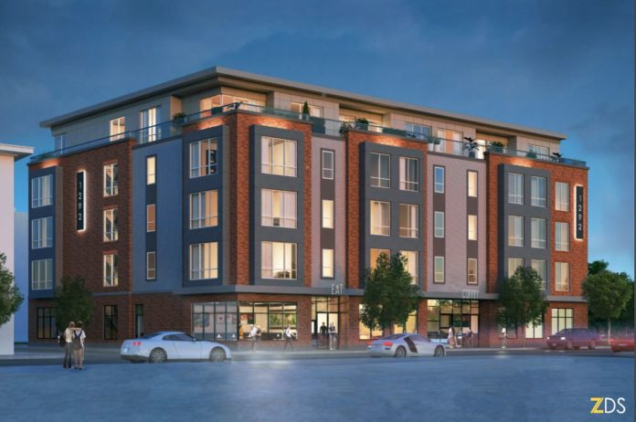 A MASTER PLAN to replace this building with a five-story mixed use structure on Westminster Street was approved by the City Plan Commission Tuesday evening. The revised plan will now head back to the Historic District Commission for final approval. / COURTESY ZDS