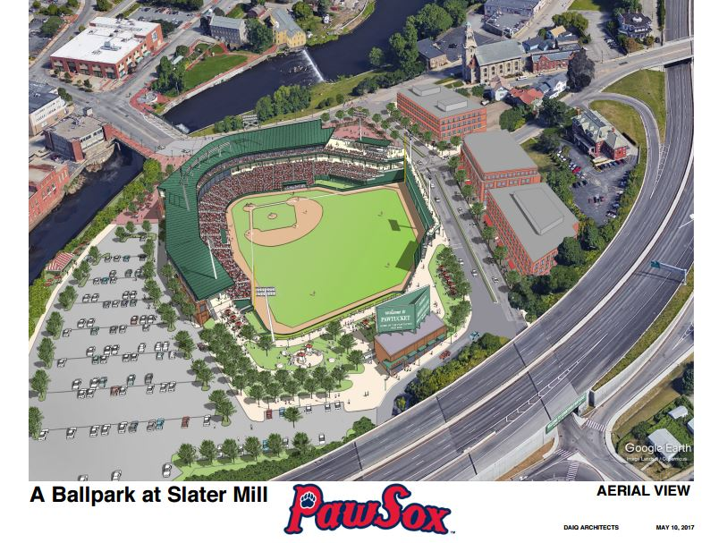 THE PAWTUCKET FOUNDATION has commissioned a report that finds a proposed $83 million ballpark for the Pawtucket Red Sox would pose a minimal financial risk for taxpayers and the team. / COURTESY PAWTUCKET RED SOX