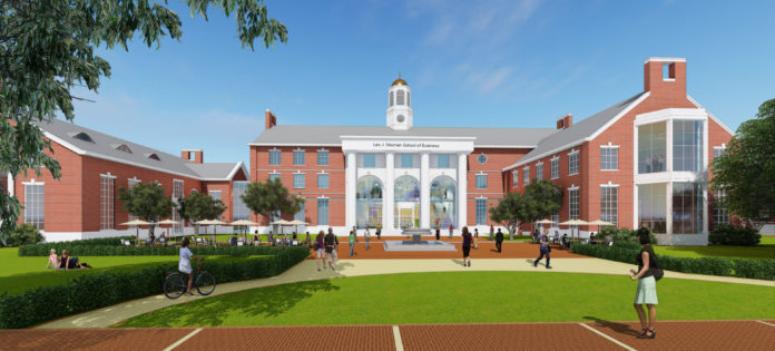 A RENDERING OF a $30 million dollar project for Stonehill College that the Providence office of Bond will oversee. /COURTESY BOND