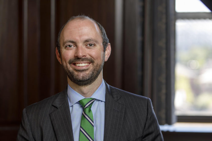 JOHN MULLEN, a portfolio manager at Parsons Capital Management in Providence and a 2002 alumnus of the Providence Country Day School, was named the school's president of the board of trustees, effective July 1. /COURTESY PROVIDENCE COUNTRY DAY SCHOOL