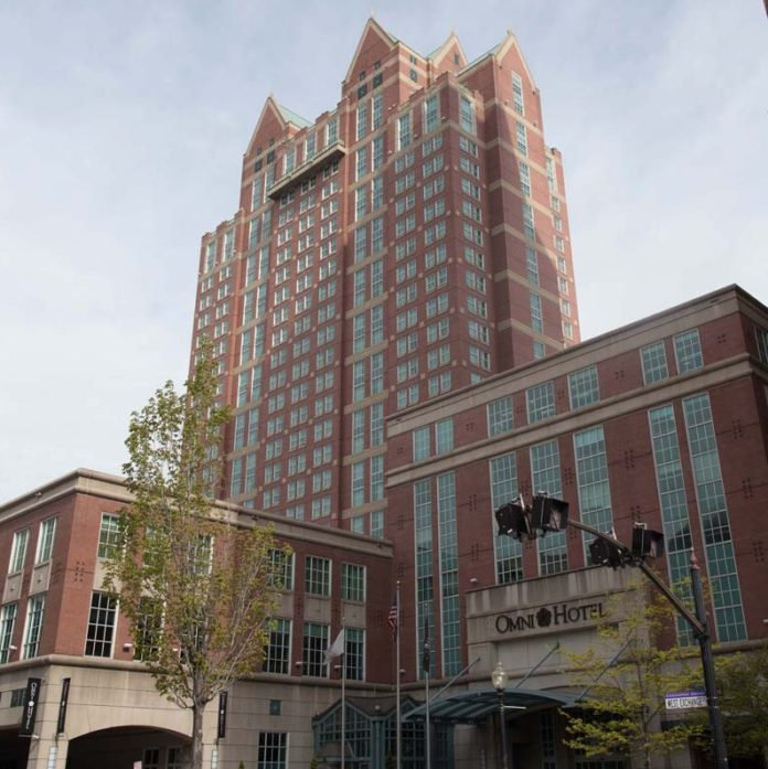 COLLECTIONS OF THE 5 PERCENT Hotel Tax in Rhode Island declined $249,846 year over year in May. Above, the Omni Providence Hotel, which generated collection of $125,372 in 5 percent hotel tax in May. / PBN FILE PHOTO/STEPHANIE EWENS