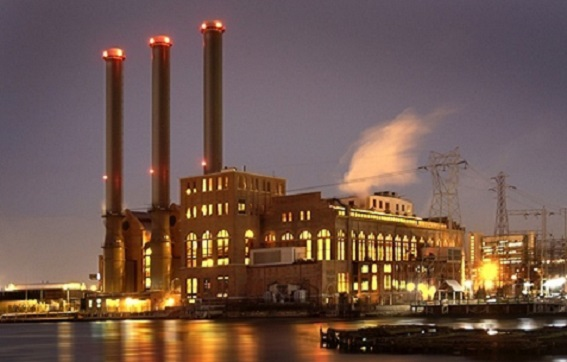 THE 450-MEGAWATT Manchester Street power plant in Providence, above, burns natural gas and must buy RGGI permits to cover its emissions. / COURTESY DOMINION ENERGY