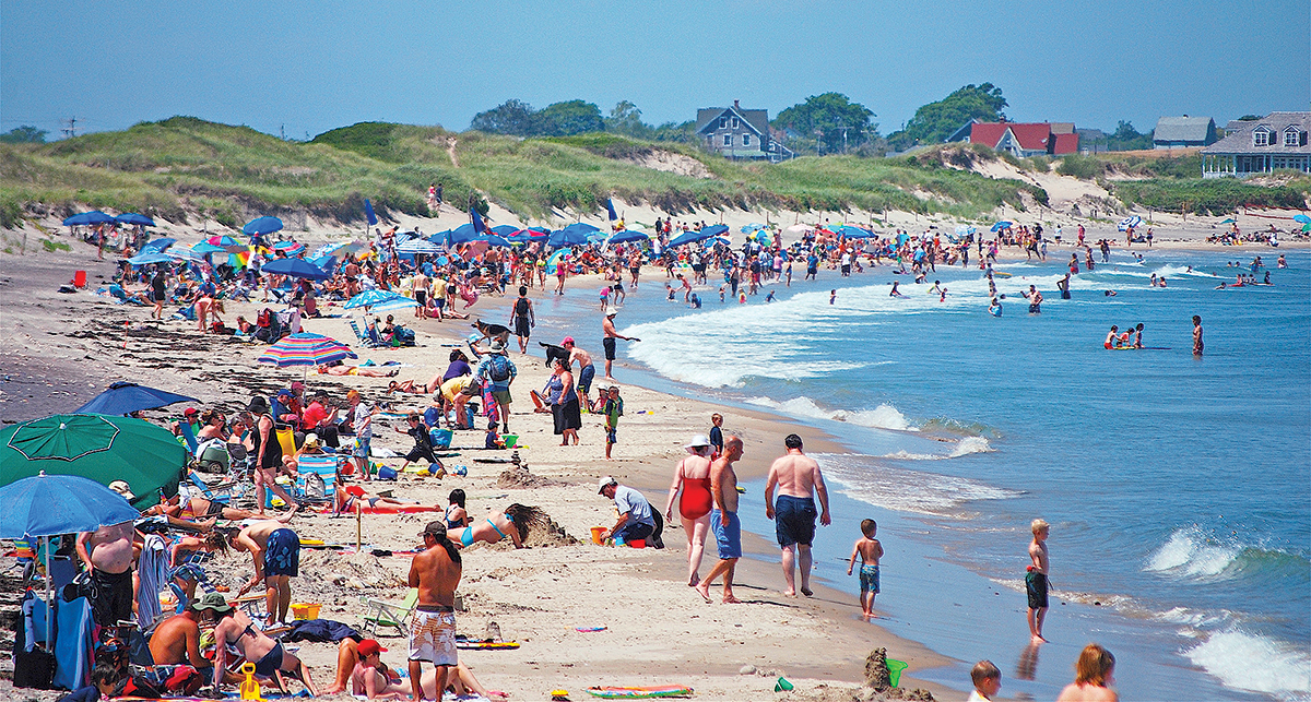 Families and tourists enjoy some beach time on Block Island. / PBN FILE PHOTO/K. CURTIS