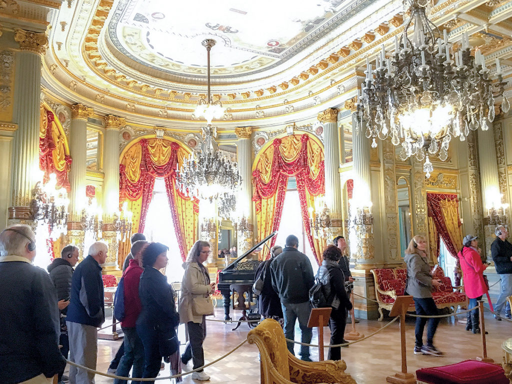 Visitors take a tour of the Breakers Mansion in Newport. / COURTESY DISCOVER NEWPORT