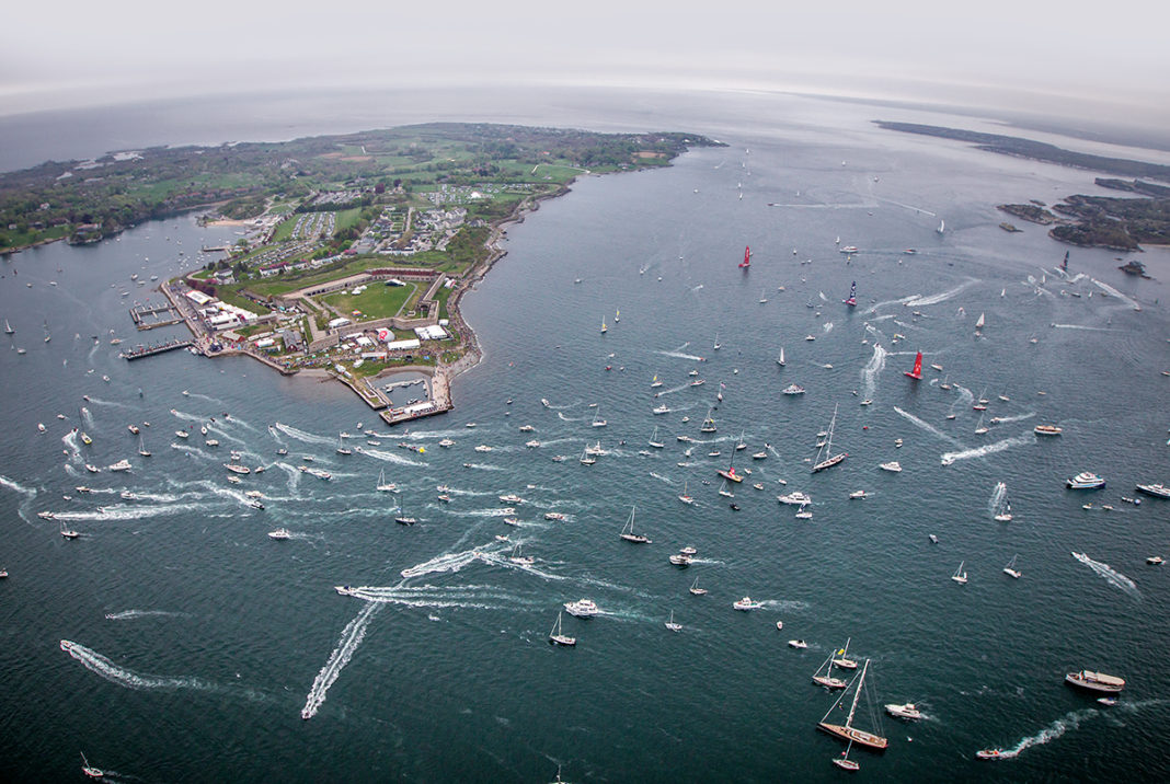 POPULAR RACE: Boats skim the water during the Team Vestas Wind In-Port Race in Newport at the Volvo Ocean Race in May 2015. The race contributes to making Newport an attractive touring destination.   / COURTESY VOLVO OCEAN RACE/AINHOA SANCHEZ