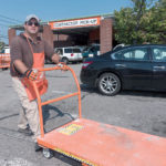 STORYTELLER: Chris Forte works part time at the Home Depot on Charles Street in Providence, where his responsibilities include retrieving carriages from the parking lot and assisting customers with loading heavy purchases into their cars and trucks. He enjoys telling stories and interacting with customers. / PBN PHOTO/MICHAEL SALERNO