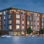 A RENDERING OF a proposed five-story apartment building at 1292 Westminster St. in Providence. During a meeting of the Providence Historic District Commission this week, residents voiced their opposition to the project. / COURTESY ZDS